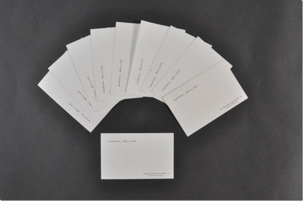 tarjetas de visitas original belline.