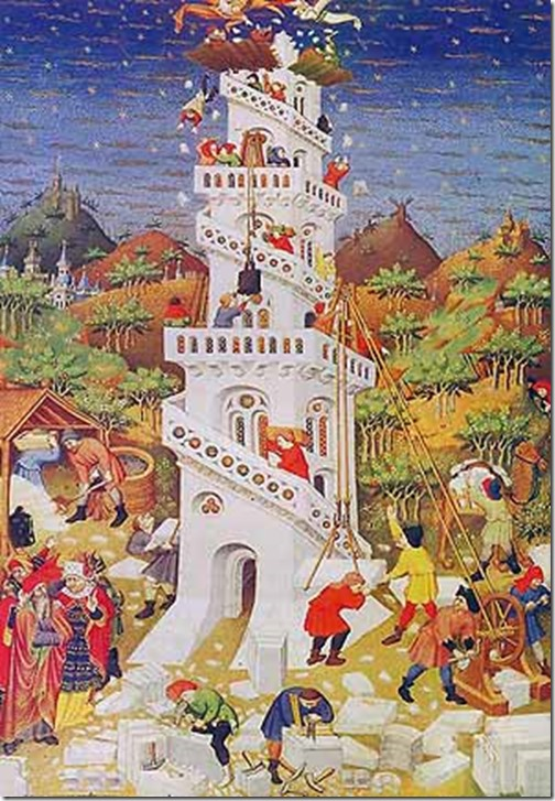 Duke of Bedford Torre de Babel  c. 1423. British Library, Londres