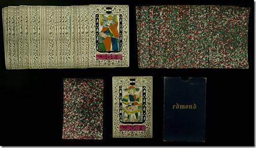 Cartes de juego tarot Edmond.