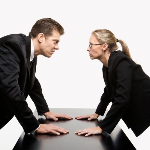 Business confrontation.