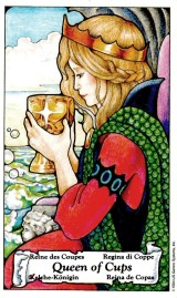 Queen of Cups from Hanson-Roberts tarot