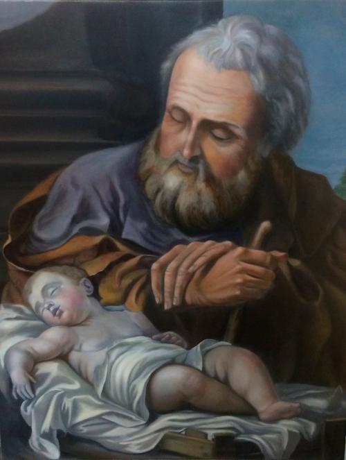 San José con niño durmiendo 2